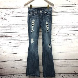 Rick & Republic Roth flare destroyed jeans tall